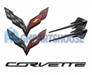 2014-2016 C7 Corvette Carbon Flash Stingray Emblems
