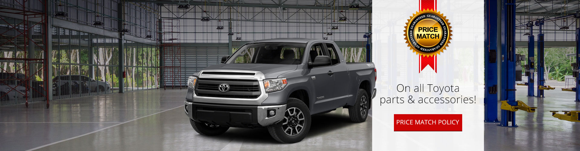 Toyota parts and accessories price match