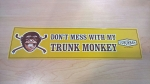 Yellow Trunk Monkey Bumper Sticker