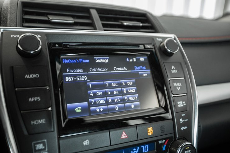 2015 Camry dash display