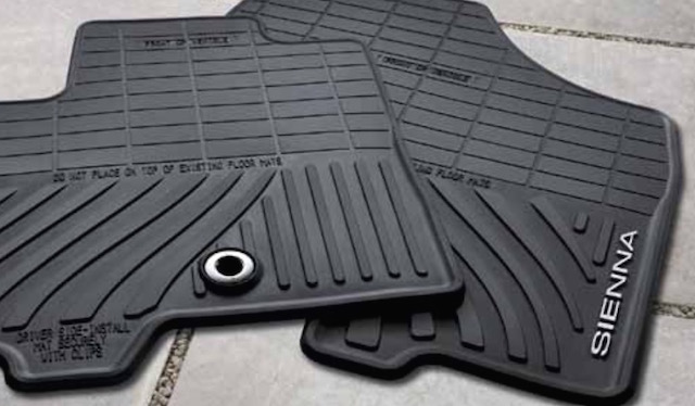 Toyota Sienna all weather floor mats PT908-08130-20