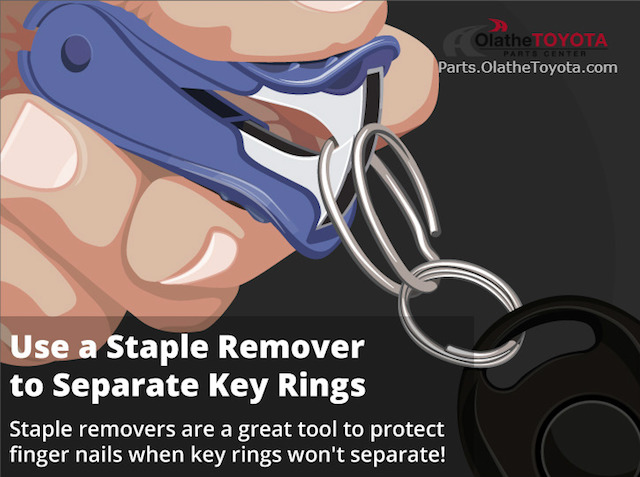 Staple remover keyring hack
