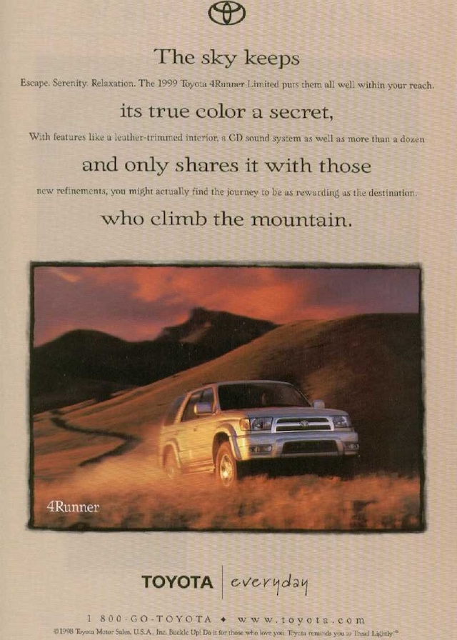 Everyday 4Runner ad