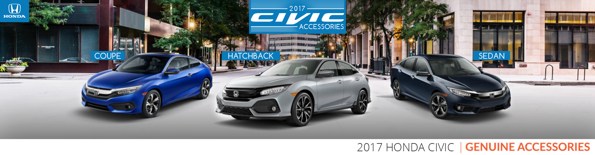 2017 Civic Honda Genuine Accessories, Coupe, Hatchback and Sedan