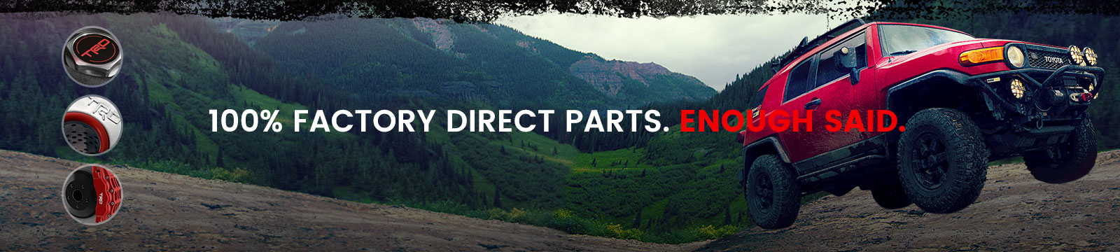 Toyota OEM Direct Parts Banner 1