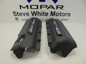 Challenger Charger Engine Cover Valve 5.7L 345 Hemi Mopar 2 Pcs Black & Purple