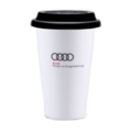 Audi Truth in Engineering 10-oz Ceramic Cup with Silicone Lid