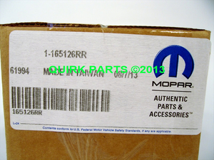 07-12 Jeep Wrangler 4-Door Set Of 5 Black Handle Guards OEM NEW MOPAR GENUINE - Mopar (165126RR)