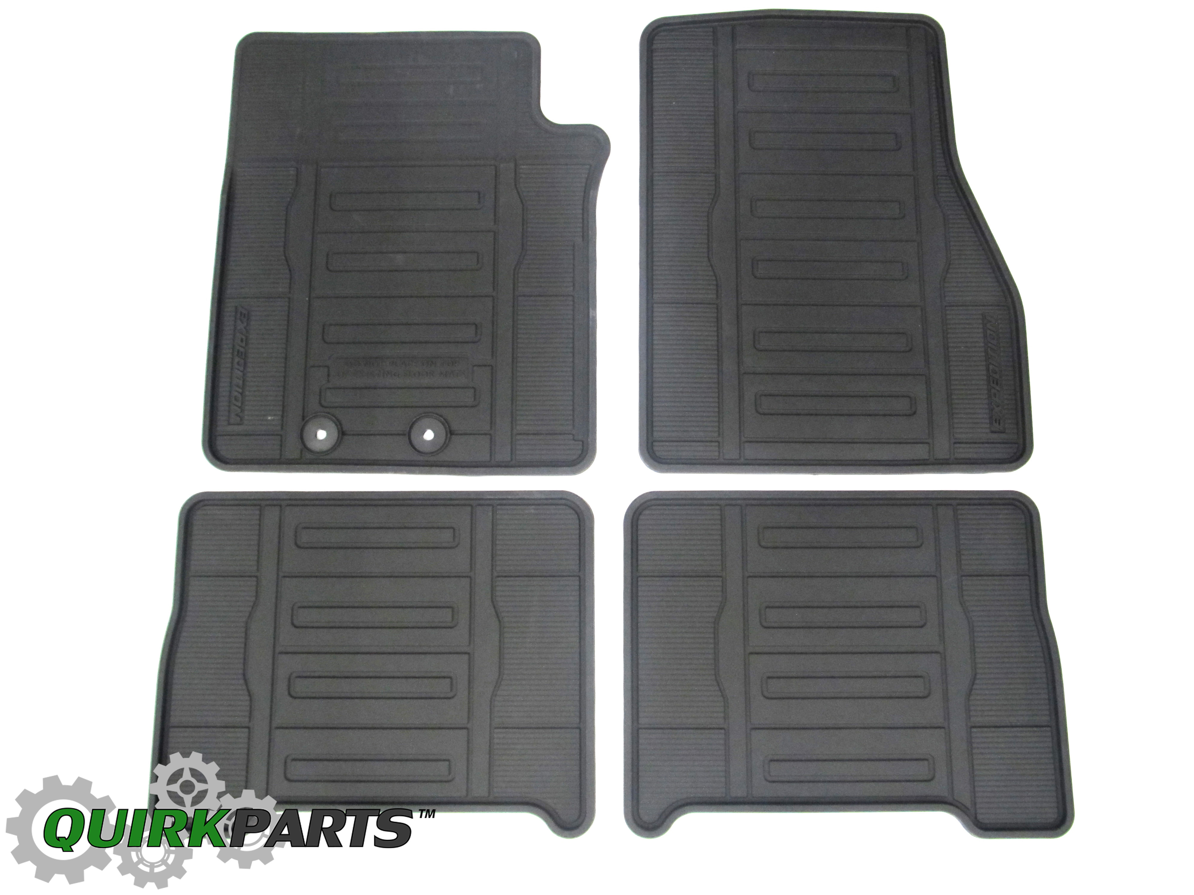 Rubber floor mats expedition - 2015 2016 Ford Expedition Black All Weather Rubber Vinyl Floor Mats 4 Piece Oem
