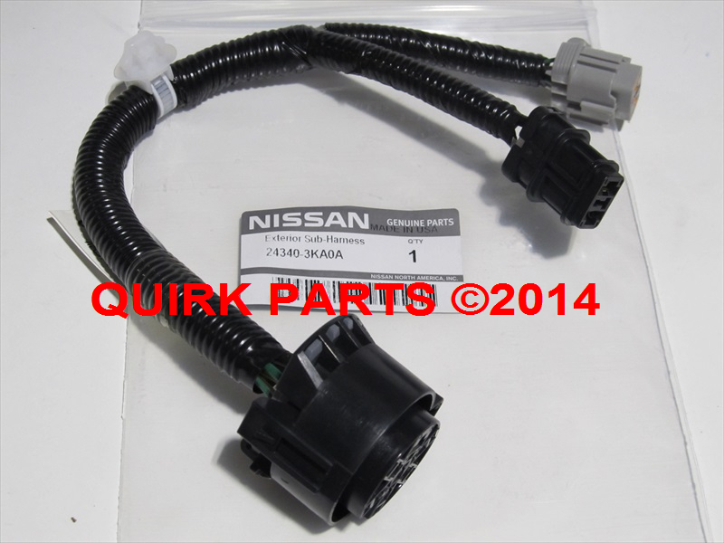 2013 2014 nissan pathfinder 7 pin trailer tow hitch receiver harness kit oem new for 2014 nissan