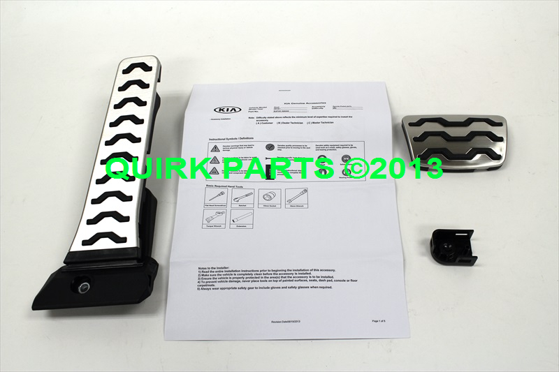 2014 Kia Soul Sport Pedals OEM BRAND NEW Genuine Part # B2F05-AB000