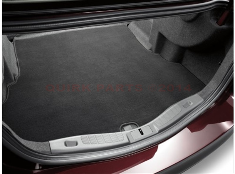 2013-2015 Ford Fusion Rear Carpet Cargo Trunk Mat Black Liner Protector OEM NEW