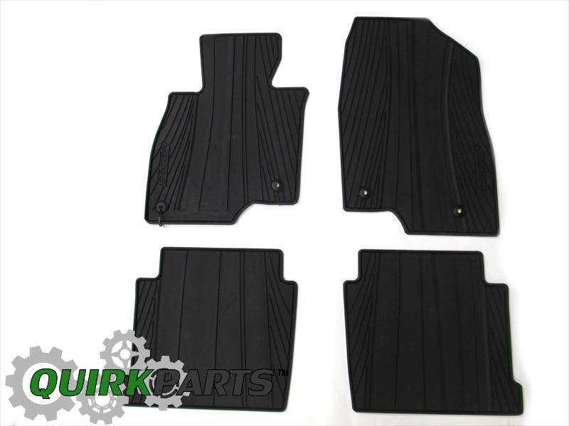 2014 Mazda 6 All Weather Vinyl Floor Mats Set of 4 OEM NEW 0000-8B-H70