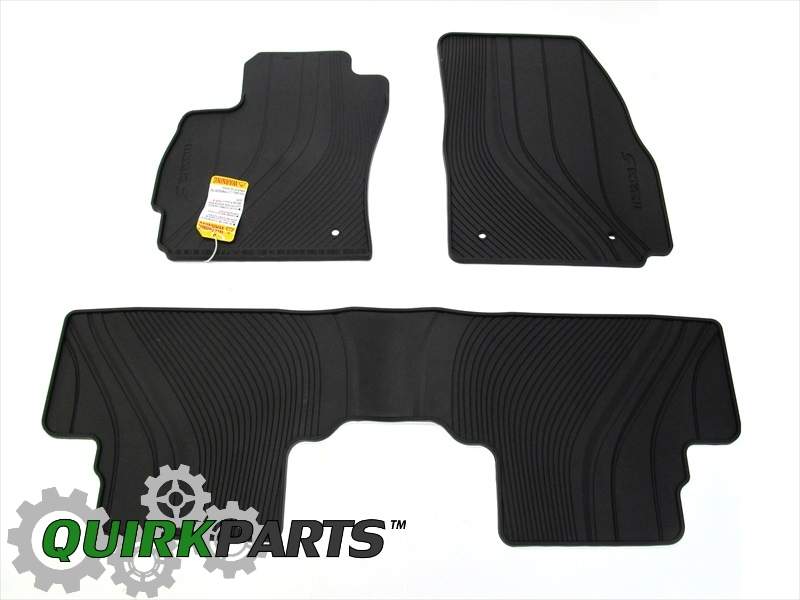 2012-2013 Mazda5 All Weather Rubber Floor Mats Front & Rear OEM BRAND NEW
