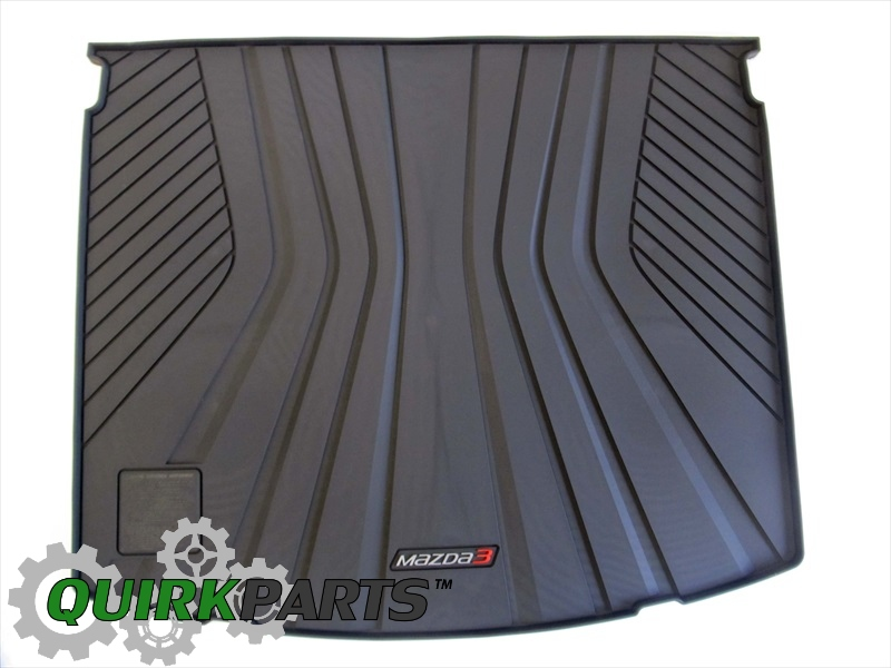 2014 Mazda 3 5 Door) Rear Rubber Cargo Tray OEM BRAND NEW Genuine 0000-8S-L04