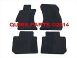 2012-2014 Subaru Impreza All Weather Floor Mats Ruber BLack OEM NEW
