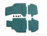 Floor mats in Nephrite Green for Porsche 996 (LHD)