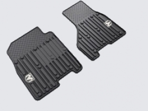 DODGE RAM SLUSH RUBBER FLOOR MAT KIT - FRONT SET - CREW CAB