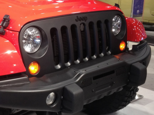 JEEP WRANGLER JK SATIN BLACK GRILLE