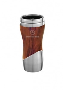 DOUBLE WALL STAINLESS STEEL AND WOOD GRAIN TUMBLER