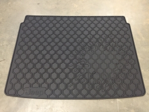 Jeep Renegade Molded Black Rubber Cargo Tray, Jeep Logo
