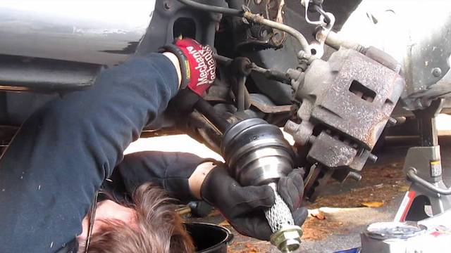 Replace Mazad axle