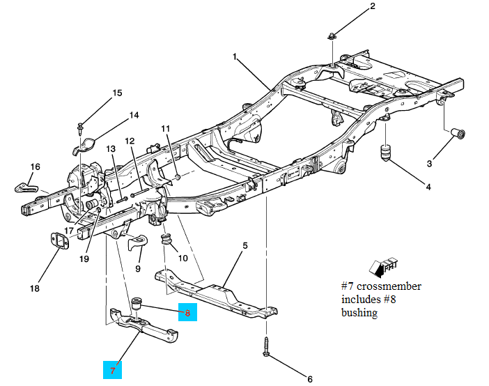 Frame Crossmember Includes Bushing Must Order Together With 25872774 Sold Separately GM 25872770 Newgmpartscom: Hummer H3 Engine Diagram At Shintaries.co