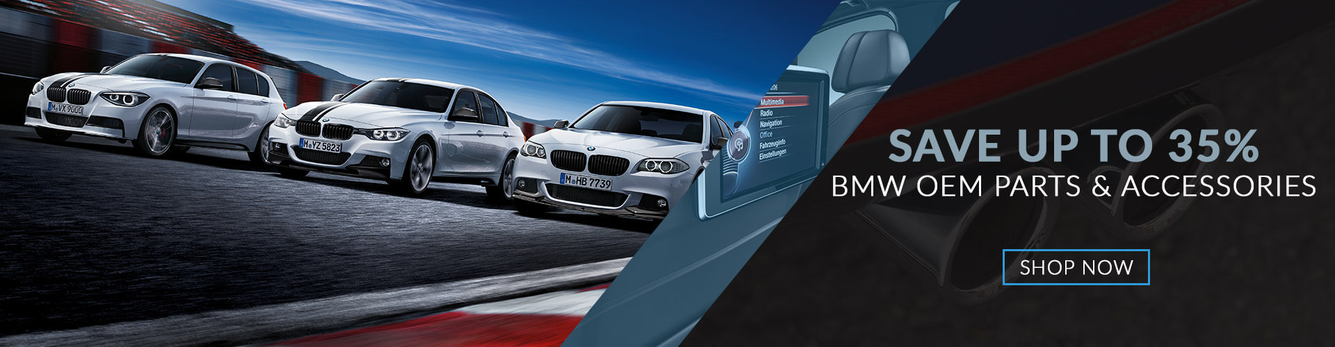 Save up to 35% on BMW OEM Parts & Accessories