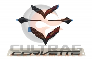 2014-2019 Chevrolet C7 Corvette Carbon Flash Emblem Package