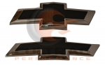 2016-2018 Chevrolet Camaro Front & Rear Black Bowtie Emblems
