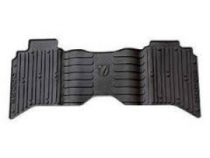 All-Weather Floor Mats, Black, Rear, Crew Cab