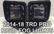 TRD PRO RIGID FOG LIGHTS