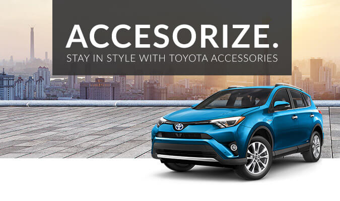 Accessorize. Stay in style with Toyota accessories.