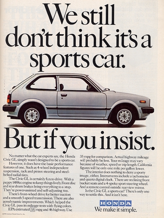 Honda Ad Sports Car
