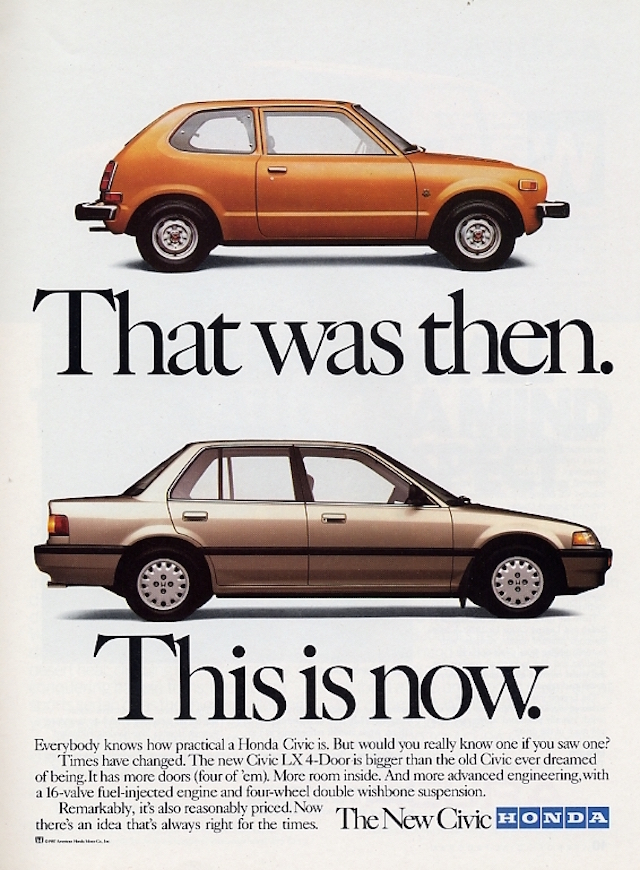 Honda Ad Then Now
