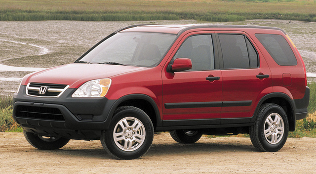 Red Honda CRV