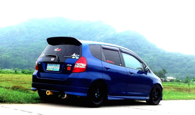 Honda Fit tinted window