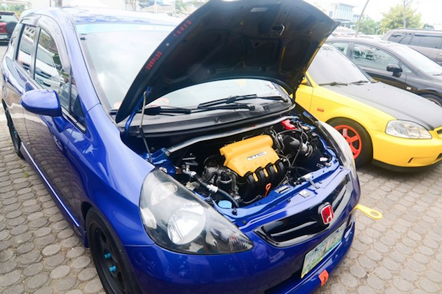 Honda Fit yellow intake