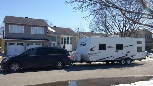 Odyssey towing camper