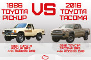30 Year Comparison Toyota Trucks