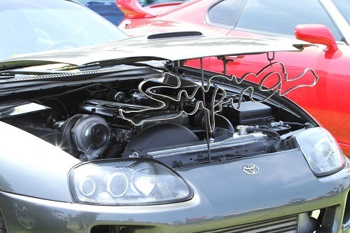 4th Gen Supra open hood