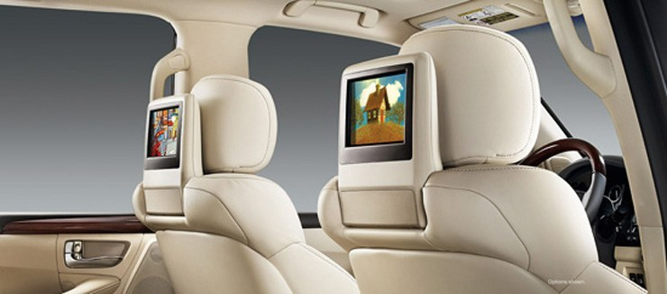 2014 Lexus LX 570 Review - Rear DVD Players