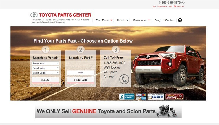 Olathe Toyota Parts Center Launches New Website