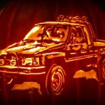Blast From the Toyota Past Pumpkin: Carve Your Own Classic Toyota Truck!
