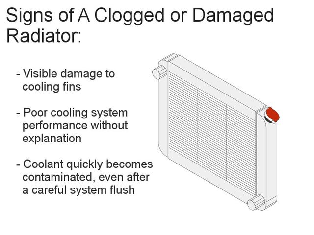 Damaged radiator