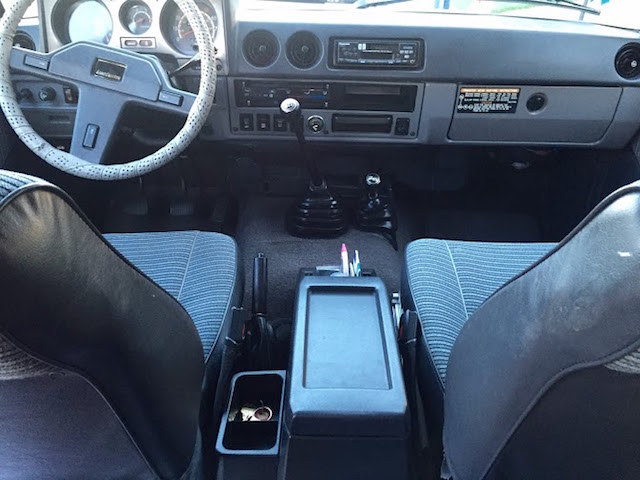86 Toyota interior middle