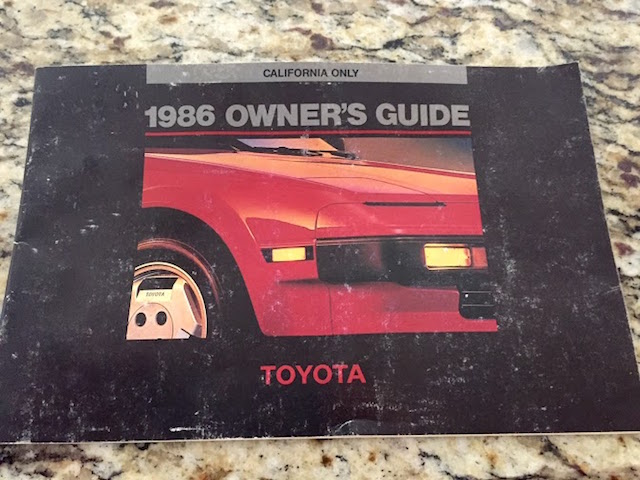 86 Toyota owners guide