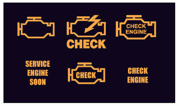 Check engine indicator light