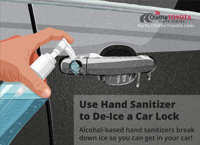 Hand sanitizer deice hack