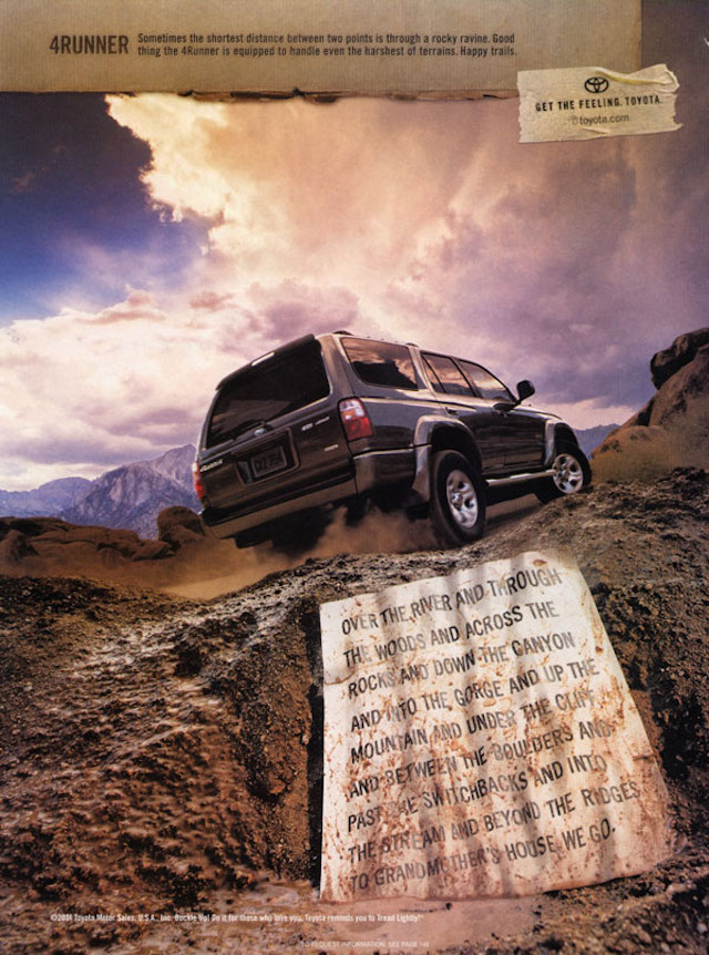 Distance 4Runner ad
